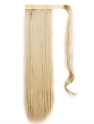 Golden 60CM Synthetic High Temperature Wire Wig Straight Hair Ponytail Color 22