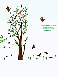 cheap -Green Tree Birds Sofa Background Wall Stickers Environmental DIY Living Room Wall Decals