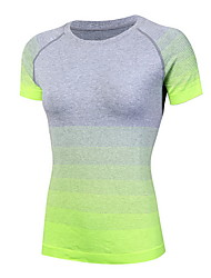 Damen Laufshirt Rasche Trocknung Schweißableitend T-shirt Oberteile für Übung & Fitness Laufen Schwarz Rose Rot Rot Grün Blau S M L