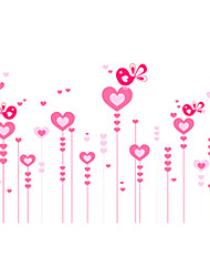 cheap -Romance Pink Heart Love Birds Wall Stickers DIY Removable Bedroom Living Room PVC Wall Decals