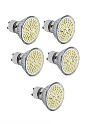 3.5 GU10 GU5.3(MR16) E26/E27 Faretti LED MR16 60 SMD 2835 300-350 lm Bianco caldo Luce fredda 3000-6500 K Decorativo AC 220-240 DC 12 AC