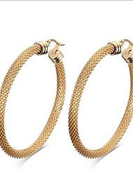 Feminino Moda Bijuterias Destaque Europeu Aço Titânio 18K ouro Forma Geométrica Jóias Para Festa Diário Casual