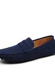 cheap -Men's Shoes Leather Suede Light Soles Formal Shoes Loafers & Slip-Ons For Casual Outdoor Office & Career Navy Blue Green Khaki Royal Blue