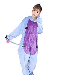 cheap -Kigurumi Pajamas Donkey Onesie Pajamas Costume Coral fleece Blue Cosplay For Adults' Animal Sleepwear Cartoon Halloween Festival / Holiday