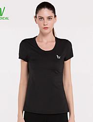 preiswerte -Damen Rasche Trocknung, Schweißableitend, Leichtes Material T-shirt / Oberteile für Laufen Schwarz / Hellblau M / L / XL