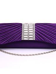 povoljno -Žene Torbe Saten Večernja torbica Tri preklopa Crystal / Rhinestone za Vjenčanje Zabave Formalan Sva doba Zlato Obala Crn Pink Crvena