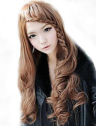 Women Synthetic Wig Long Light Brown Costume Wigs Costume Wigs