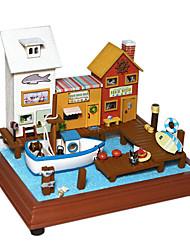 Недорогие -День Святого Валентина подарок Чи весело дом поделки ручной работы кабины модель дом игривый маленький городок