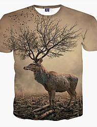 cheap -Men's Sports Plus Size T-shirt Print