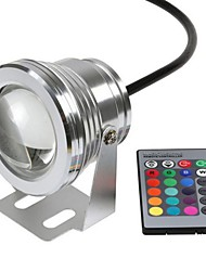 12V 800-1000Lm 10W Colorful Color RGB Underwater Lights Underwater Landscape