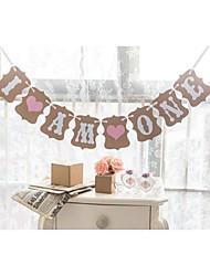 Anniversaire Fête de naissance Papier cartonné Décorations de Mariage Thème jardin Thème floral Thème de conte de fées Printemps Eté