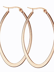 cheap -Women's Fashion European Rose Gold Titanium Steel Oval Jewelry Party Daily Casual