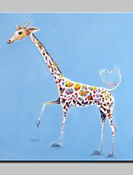 Недорогие -большой ручной росписью прекрасный жираф маслом на холсте современных животных стены искусства для домашнего декора с рамкой