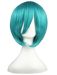 abordables -Pelucas de Cosplay Vocaloid Mikuo Verde Corto Animé Pelucas de Cosplay 35 CM Fibra resistente al calor Hombre / Mujer