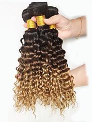 billige -Naturlig farve hår væver peruansk tekstur dyb bølge 18 måneder 3 stykker hår væver