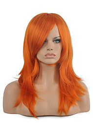 70 Cm Harajuku Anime Colorful Cosplay Wigs Young Long Curly Synthetic Hair Wig Orange Synthetic Wig