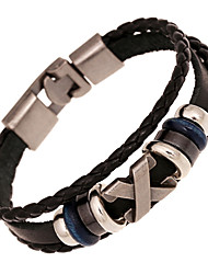 cheap -Unisex Alloy Leather Handcrafted Vintage Strand Bracelet(More Colors) Christmas Gifts