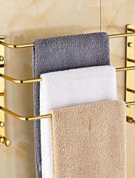 preiswerte -Handtuchhalter Moderne Messing 1 Stück - Hotelbad 3-Handtuch-Bar