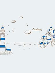 Architettura / Parole e citazioni / Natura morta / Moda / Paesaggio / Tempo libero Adesivi murali Adesivi aereo da parete,PVC 90*60*0.1
