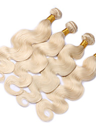 "cheap -3pcs/lot 10""-28""  Blond Hair Bundles Body Wave Human Hair Extensions Weft Weave 613"