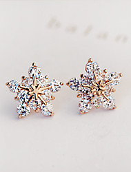cheap -Women's Stud Earrings Earrings Fashion Bridal Costume Jewelry Zircon Cubic Zirconia Imitation Diamond Star Jewelry For Wedding Party