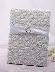 cheap -Elegant BeautifulRose Tri-Fold Page Large Guestbook Wedding Ceremony