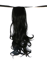 cheap -Wig Black 50CM High-Temperature Wire Strap Style Long Hair Ponytail Colour 1