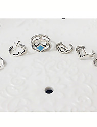 cheap -Ring Fashion Party / Daily / Casual Jewelry Women Midi Rings 1set,Adjustable Silver
