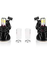 2x 80W 8000LM G5 Auto Car LED Headlight H4 H/L 6000K High Power Conversion 360 Degree COB Leds Headlamp Light Bulbs Kit