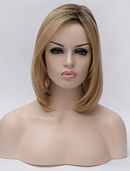cheap -Synthetic Wig Straight kinky Straight Bob Haircut Middle Part Bob Blonde Women's Capless Carnival Wig Halloween Wig Short Synthetic Hair