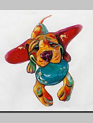 Недорогие -лагере ручной росписи абстрактные живопись маслом живопись на холсте собака фотографии настенное искусство для домашнего декора белой рамкой