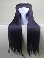Capless Purple  Cosplay Wigs with Full Bang 120cm  Long  Synthetic Hair  Wig Girl's Cartoon Wig Suit for  Party