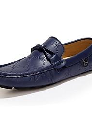 Mocassins masculins&Slip-ons printemps été automne moccasin nappa cuir bureau en plein air&Robe de carrière casual bleu foncé