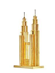 Недорогие -3D пазлы Пазлы Металлические пазлы Игрушки Знаменитое здание 3D Своими руками Предметы интерьера Металл Дети Куски