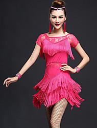 devons-nous latin danse robes femmes mode costumes de danse style élégant