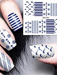 economico -Sticker Nail Art Nail Decalcomanie trasferimento di acqua