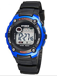 SYNOKE Kids' Sport Watch Wrist watch Digital LCD Calendar Chronograph Water Resistant / Water Proof Alarm Luminous Rubber Band Black
