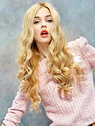 Недорогие -Парики из искусственных волос Естественные кудри Блондинка Блондинка Искусственные волосы Жен. Блондинка Парик Без шапочки-основы