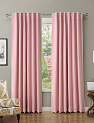 cheap -Blackout Curtains Drapes Living Room Solid Colored Polyester