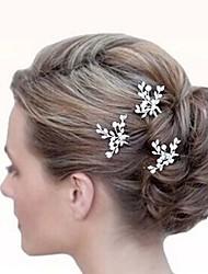 Недорогие -Заколки-пряжки Аксессуары для волос Циркон