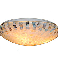 cheap -16 inch Retro Tiffany Ceiling Lamp /Shell Shade Flush Mount Living Room Dining Room light Fixture
