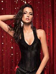 cheap -YUIYE® Women Sexy Lingerie Waist Training Corset Set Bustier Shapewear Plus Size Black S-2XL Overbust Corset