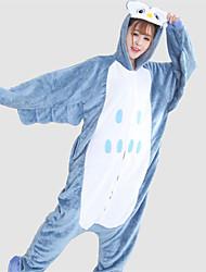 povoljno -Kigurumi plišana pidžama Sova Onesie pidžama Kostim Flanel Flis Plava Cosplay Za Zivotinja Odjeća Za Apavanje Crtani film Noć vještica