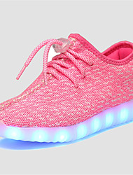 Fille-Décontracté-Vert Rose Gris Bleu royal-Talon Plat-Confort Light Up Chaussures-Baskets-Tulle