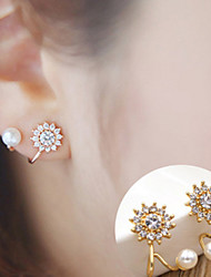 cheap -Women's Stud Earrings Fashion Simple Style Costume Jewelry Alloy Flower Sunflower Jewelry For Daily Casual