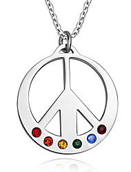 cheap -Men's Women's Stainless Steel Pendant Necklace Pendant  -  Fashion Rainbow Necklace For Daily Casual