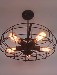 cheap -Retro Contracted Wrought Iron Pendant Lights Living Room Restaurant,Cafe ,Game Room,Study Room/Office Loft light Fixture