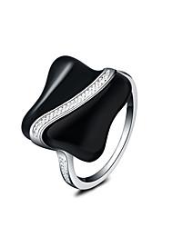 preiswerte -Damen versilbert Statement-Ring - Modisch Silber Ring Für Hochzeit Party Alltag Normal