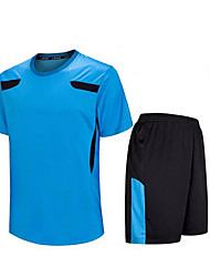 cheap -Men's Soccer Shirt+Shorts Clothing Sets/Suits Breathable Quick Dry Spring Summer Fall/Autumn Winter Classic TeryleneExercise & Fitness