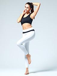 billiga Sport och friluftsliv-CONNY Dam Yoga byxor - Svart / vit, Vit / Svart, Svart / Rosa sporter Cykling Tights / Leggings Löpning, Fitness, Gym Sportkläder Andningsfunktion Elastisk